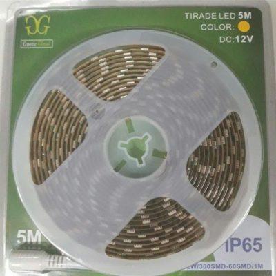 TIRA LED ROLLOS DE 5M - CON SILICONA 5050 DE 12V AZUL