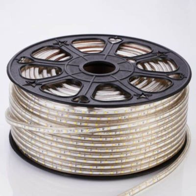 TIRA LED ROLLOS DE 50M 5050 DE 8mm 220V BLANCO