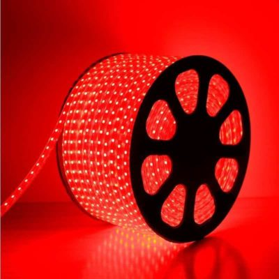 TIRA LED ROLLOS DE 50M 2835 DE 8mm 220V ROJO