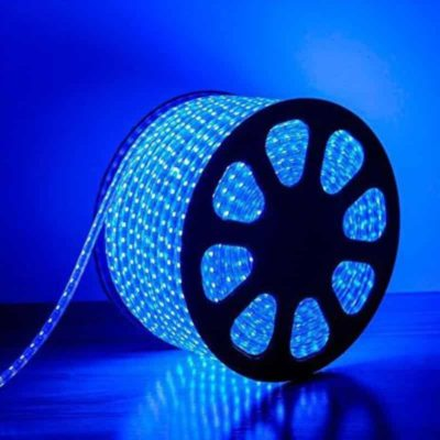 TIRA LED ROLLOS DE 50M 2835 DE 8mm 220V AZUL